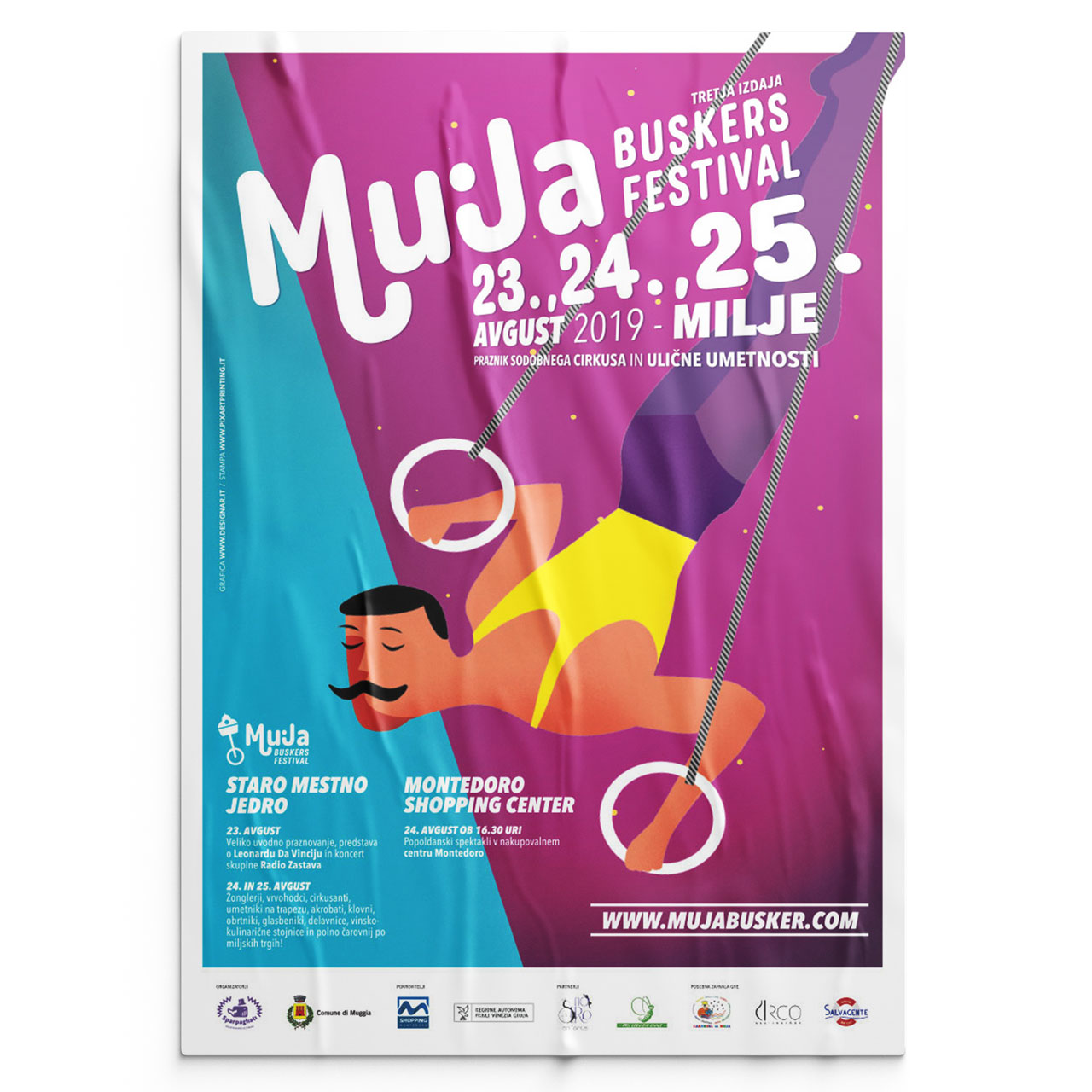 Muja Buskers Festival poster